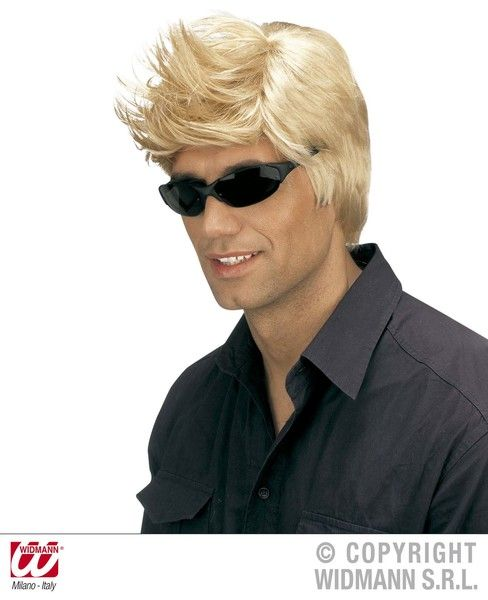 00s David Beckham Wig (Blonde/Brown) Fancy Dress