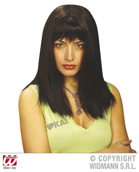 00s Fringe Shoulder Length Pamela Wig Fancy Dress