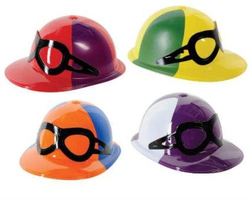 1 Plastic Jockey Helmet Assorted Colours for Horse Racing Grand National Fancy Dress Accessory