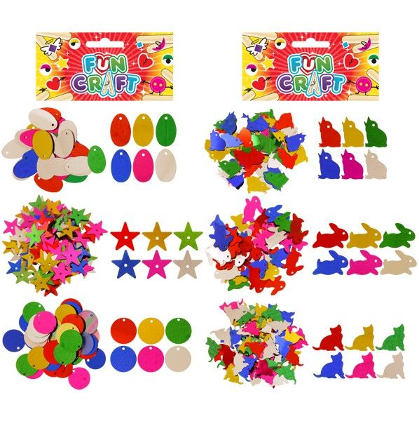 2 Packs of Sequin Craft Supplies Kit for Kids Arts & Crafts Birthday Toy Stocking Filler