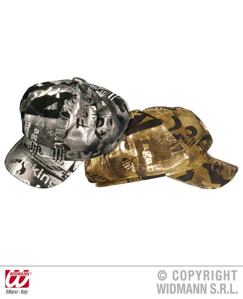 30s Lame Newsboy Cap Gold Or Silver Hat Gangster Mob 20s 30s Fancy Dress