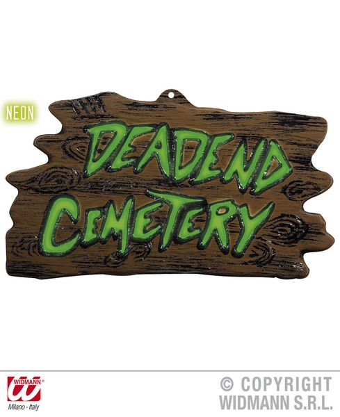 3D 80s 90s Neon Deadend Cemetery Signs 43cmx24cm Decoration Pop 80s New Romantic