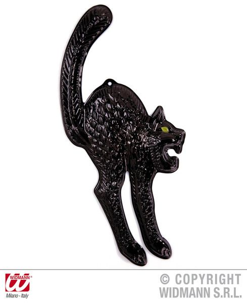 3D Black Cats W Gid Eyes Decoration Cosmetics