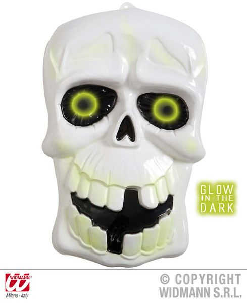 3D Glow In The Dark Skulls 35cm x 55cm Glow-Party Night Show Cosmetics
