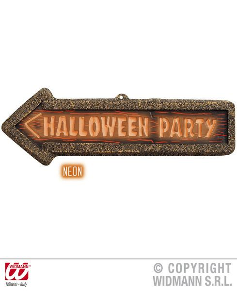 3D Neon Halloween Party Signs 56cm x 17cm Decoration Creepy Trick Treat Party