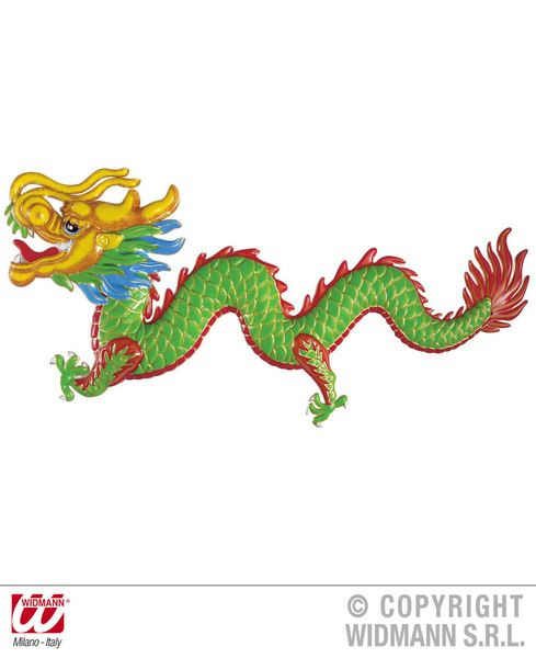 3D Oriental Dragon 100X42cm Decoration Far East Chinese Japanase Orient Party