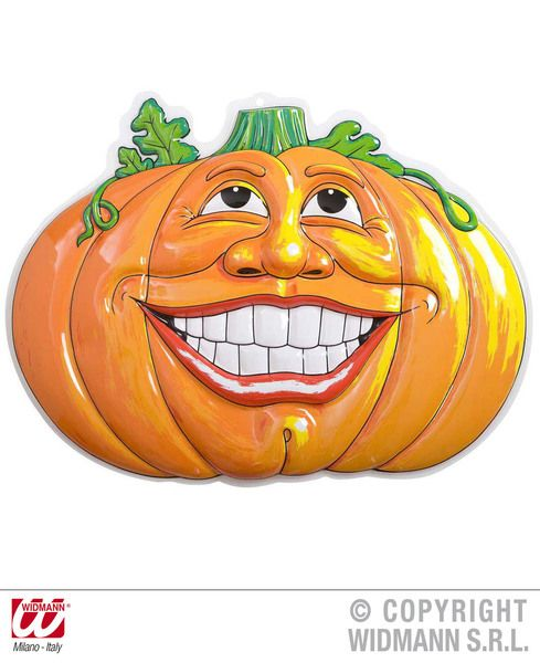 3D Smiling Pumpkins 52.5cm x 49cm Decoration Halloween Jacko Lantern Party
