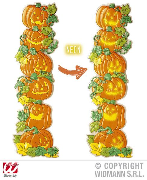 3D Vertical Pumpkin Decoration Trick Or Treat Jack O Lantern Halloween Party