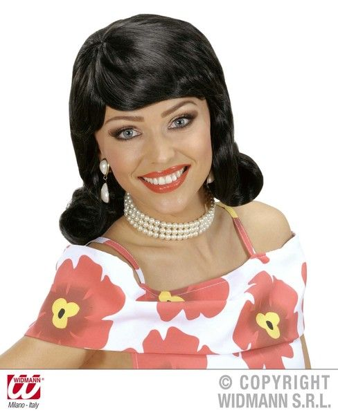 50s Flip Wig 50s Fancy Dress