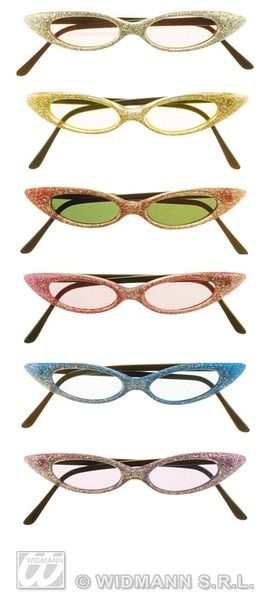 50s Glitter Trendy Glasses Rockabilly Rock N Roll 50s Cosmetics