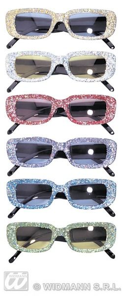 60s Glitter Glasses Mods Rockers Swinging 60s Cosmetics