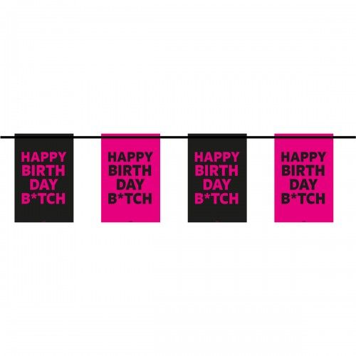 6m Happy Birthday Insulting Swear Word Banner
