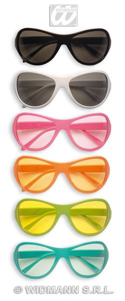 70s Glasses 6 Colours Groovy 70s Disco Hippy Fancy Dress