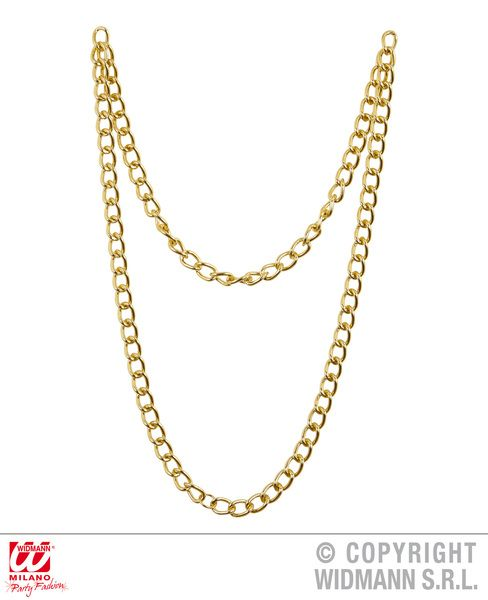 70s Gold Chain Necklace Groovy 70s Disco Hippy