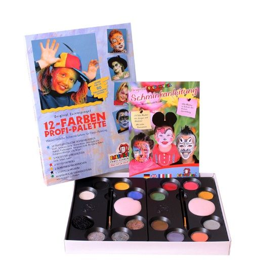 8 Colour Palette Pearlised Makeup Make-Up Face Paint Boxed Halloween