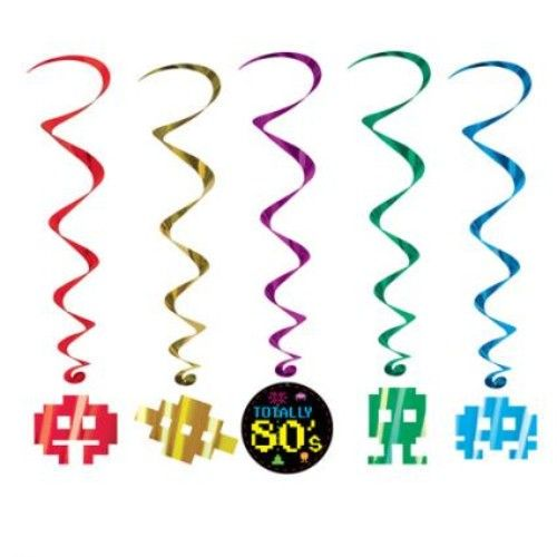 80's Whirls Party Decoration
