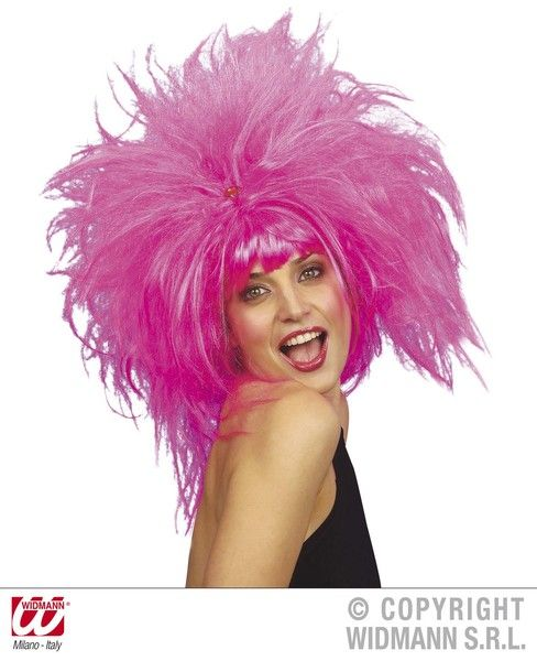 80s Pretty Woman Wig Pink Pop 80s New Romantic Fancy Dress