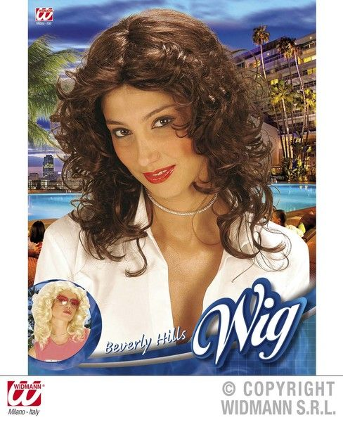 90s Beverly Hills Wig (Blonde/Brown) 90s Nineties Fancy Dress