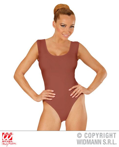 Adult Beige Sleeveless Body Leotard Bodysuit Fancy Dress