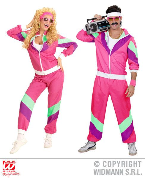 Adults 80s Pink Shell Suit Costume 80s Fancy Dress