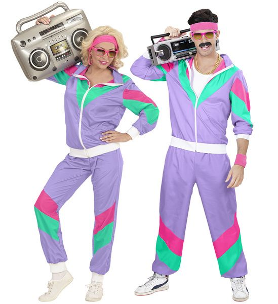 Adults 80s Shell Suit Costume 80s Fancy Dress