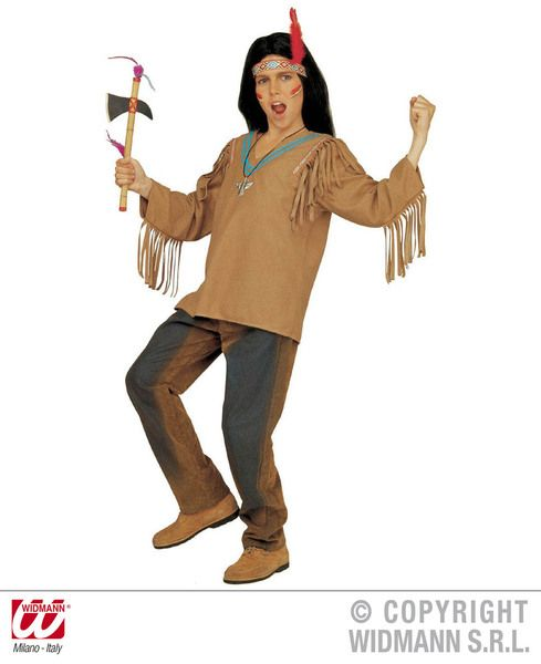 Adults Apache Costume Top Cowboy Wild West Fancy Dress