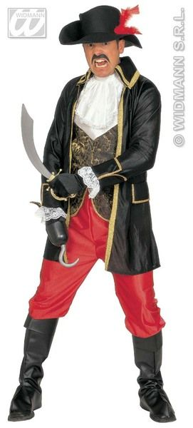 Adults Buccaneer Costume Pirate Fancy Dress