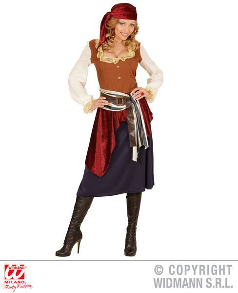 Adults Caribbean Buccaneer Costume Pirate Fancy Dress