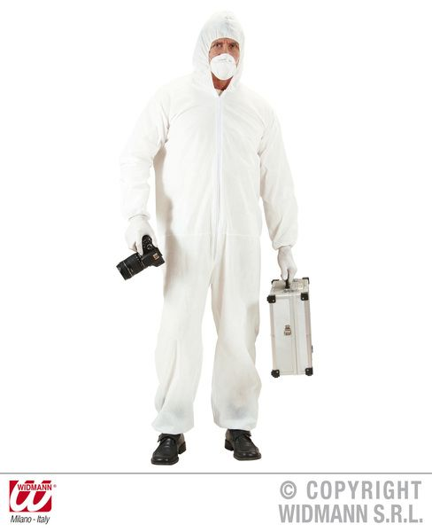 Adults Crime Scene Investigator Costume Police Fancy Dress