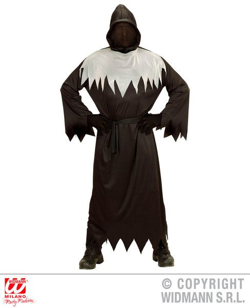 Adults Faceless Ghoul Costume Halloween Fancy Dress
