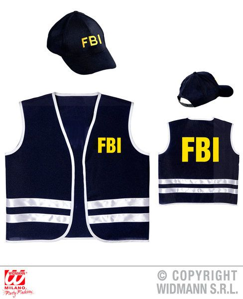 Adults Fbi Officer Costume Fancy Dress