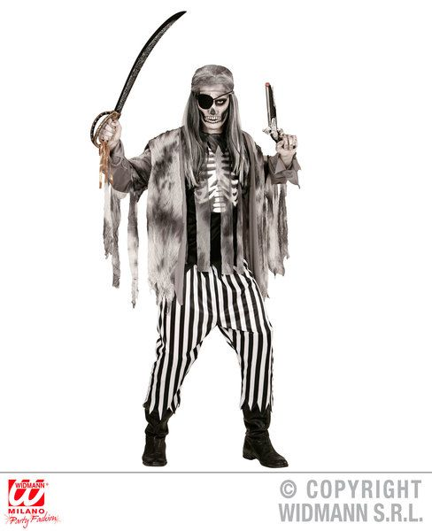Adults Ghost Ship Pirate Costume Halloween Fancy Dress