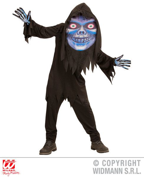 Adults Grim Reaper Big Head Costume Fancy Dress