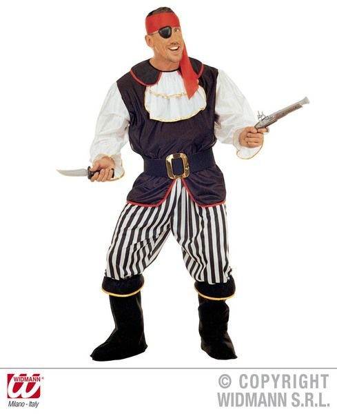 Adults Pirate Costume Deluxe Pirate Fancy Dress