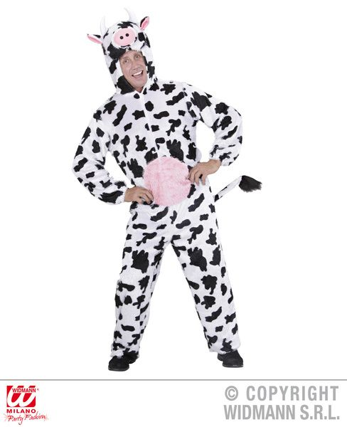 Adults Plush Cow Costume Animal Fancy Dress