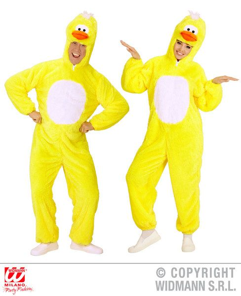 Adults Plush Duckling Costume Easter Fancy Dress