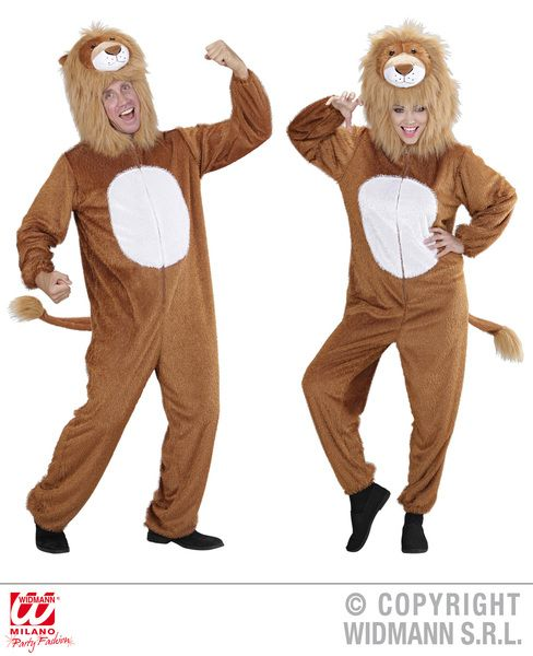 Adults Plush Funny Lion Costume Animal Fancy Dress