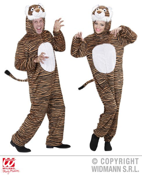 Adults Plush Funny Tiger Costume Animal Fancy Dress