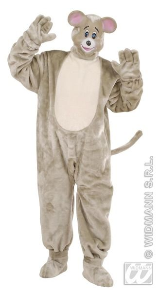 Adults Plush Mouse Costume Animal Fancy Dress