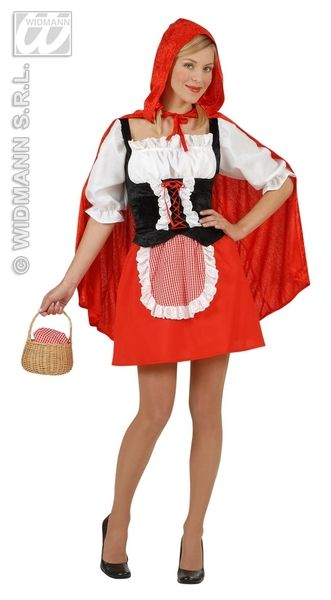 Adults Red Capelet Costume Fancy Dress