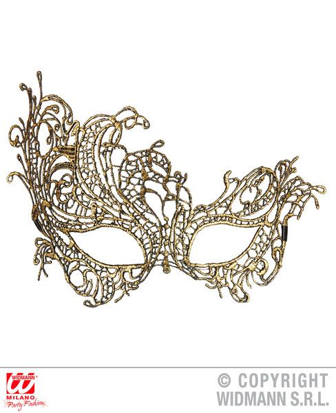 Antique Baroque Lace Eyemask Fancy Dress