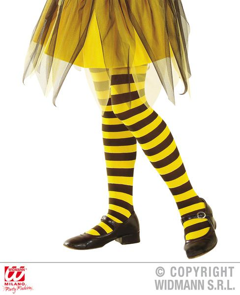 Bee Pantyhose - Yellowith Black Stockings Tights Pantyhose Lingerie Animal