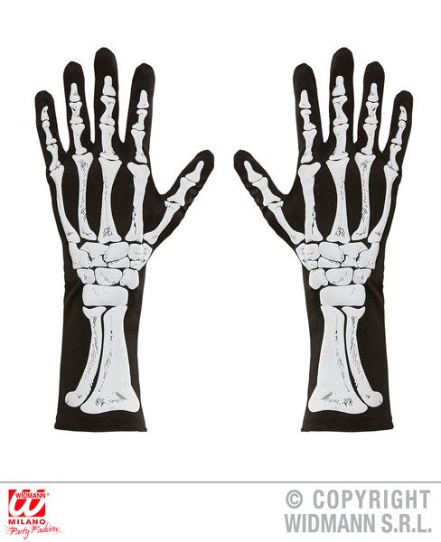 Bones Gloves Halloween Fancy Dress