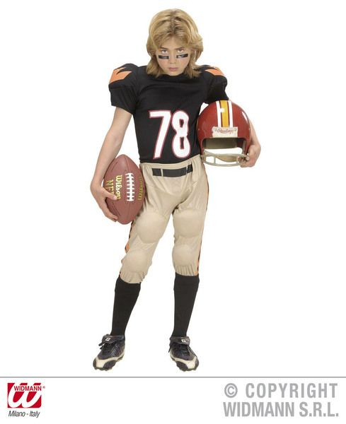 Boys American Football Player Costume Sport Fancy Dress