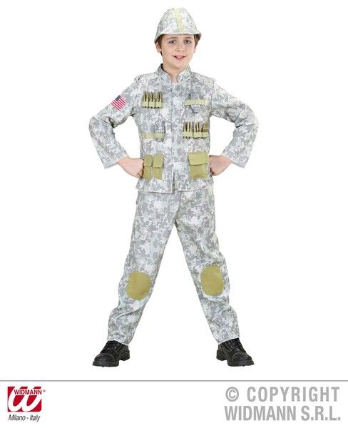 Boys Army Soldier Costume Military Fancy Dress