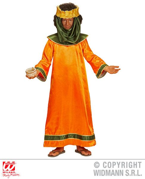 Boys Biblical King - Orange Costume Christmas Fancy Dress