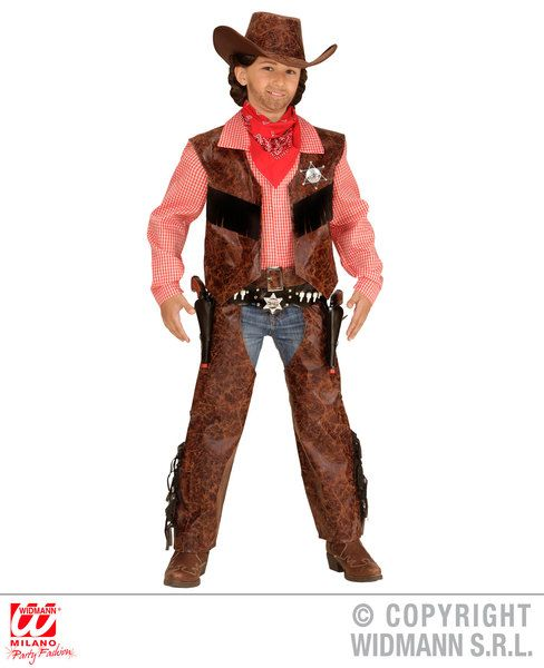 Boys Cow Boy Costume Cowboy Wild West Fancy Dress