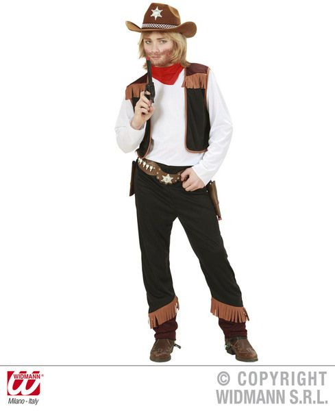Boys Cowboy Costume Cowboy Wild West Fancy Dress