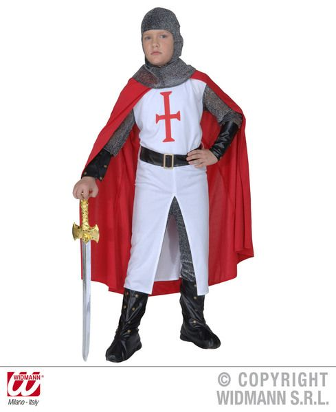 Boys Crusader Costume Fancy Dress