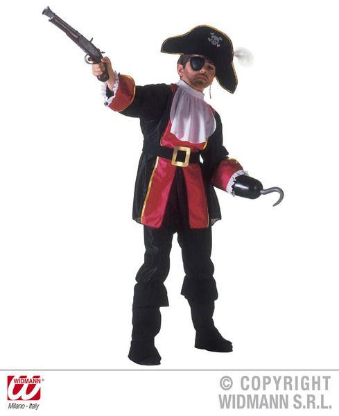 Boys Great Captain Costume Pirate Fancy Dress